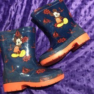 Boys disney mickey mouse mud rain boots size 6